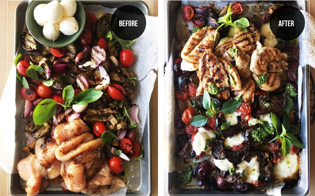 Health Brinjal Traybake – with Balsamic Chargrilled Chicken
