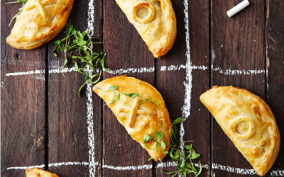 Tuna, goat's milk cheese and olive empanadas