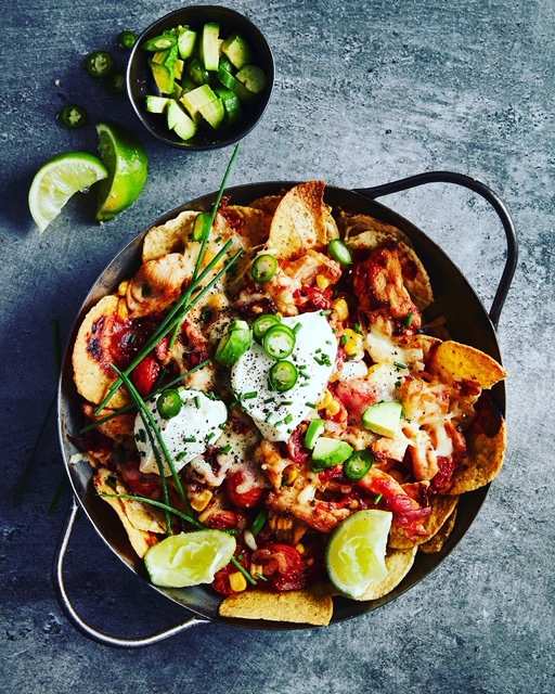 BEST Chicken nachos for the whole family