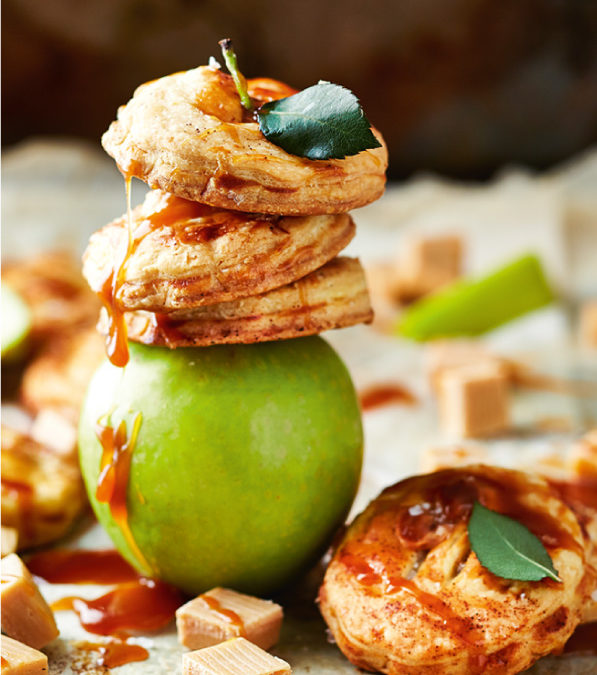 Salted caramel apple pies