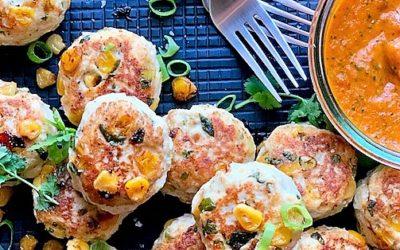 Chicken and corn meatballs