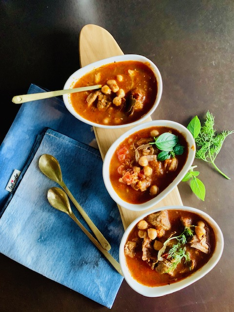 LAMB AND CHICKPEA SOUP (HARIRA)