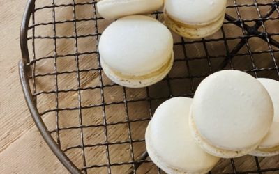 COCONUT AND WHITE CHOCOLATE MACARONS