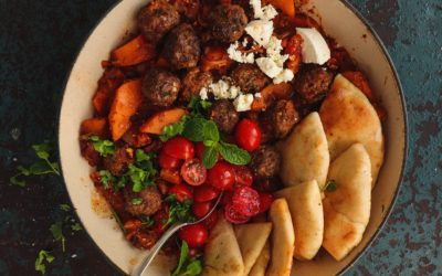 MEATBALL AND BUTTERNUT TAGINE