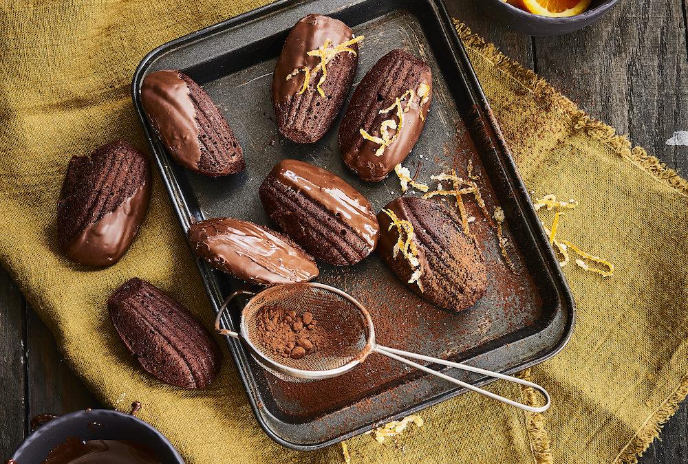 CHOCOLATE AND ORANGE MADELEINES
