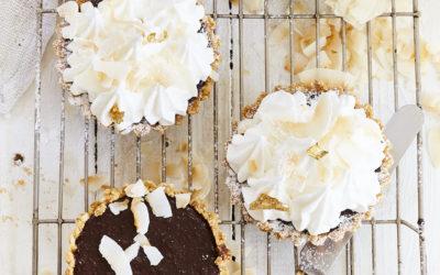 CHOCOLATE AND COCONUT MERINGUE PIE