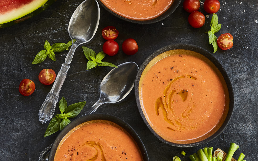 TOMATO AND WATERMELON GAZPACHO