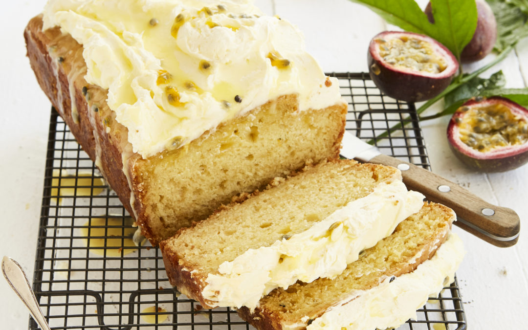 OLIVE OIL AND PASSIONFRUIT LOAF CAKE
