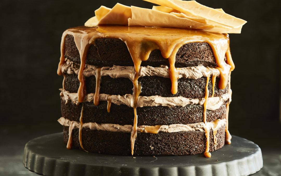 DARK CHOCOLATE CARAMEL CAKE