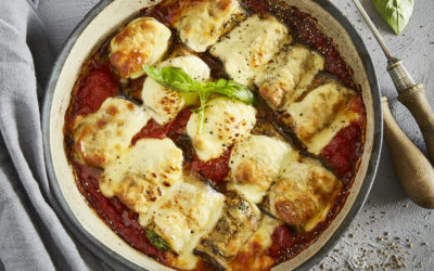 BRINJAL ROLLATINI WITH SPINACH AND RICOTTA